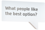 What people like the best option?